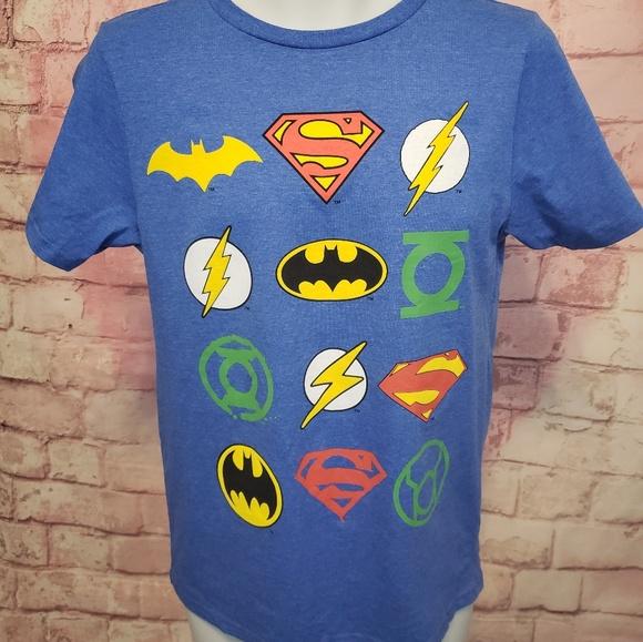 Size large /& Red Nwt DC Comics Justice League Superman//Batman Boys T-Shirt